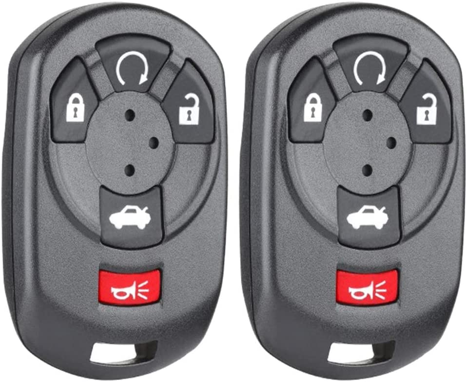 1 M3N65981403 Beefunny Replacement Remote Start Keyless Entry Car Key Shell Case Housing Fob 4+1 Button for Cadillac STS 2005-2007
