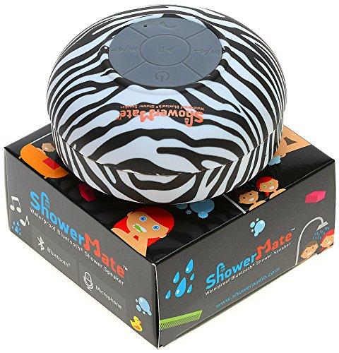 Showermate Wireless Bluetooth Lautsprecher | Wasserdichtes Duschradio mit Freisprecheinrichtung und eingebautem Mikrofon | Kompatibel mit allen Bluetooth Geräten – Schwarz und Weiß