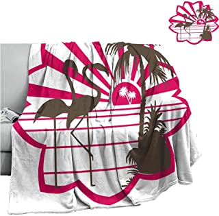 Couch Blanket Bird Crane,Camping Blanket - Throwing a blanketW70 x L90 Inch