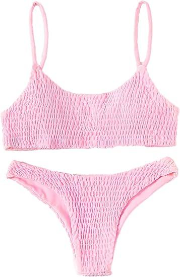 baby pink bikini set cropped