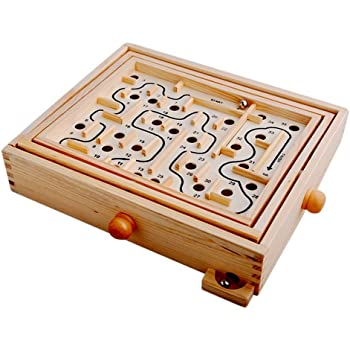 Hostar 人気の迷路ゲーム ぐるぐる迷宮 木のおもちゃ 新感覚バランスゲーム 子供 キッズ 知育玩具