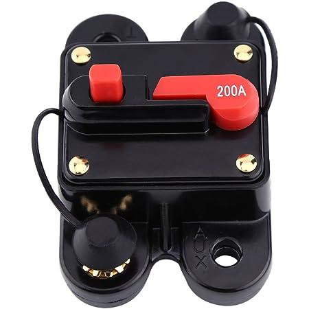 Walfront 12V-24V 80-300A DC Automatische Sicherung Schalter Leistungsschalter Reset Sicherung Auto Marine Boat Bike Stereo Audio 300A