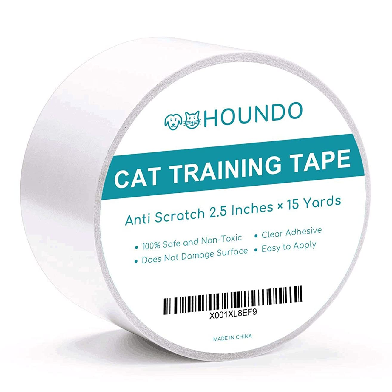 Houndo Anti-Scratch Cat Training Tape | Quickly Stops Cats from Scratching Furniture, Couch, Chair, Sofa, Rug, and Door | Cat Scratch Deterrent