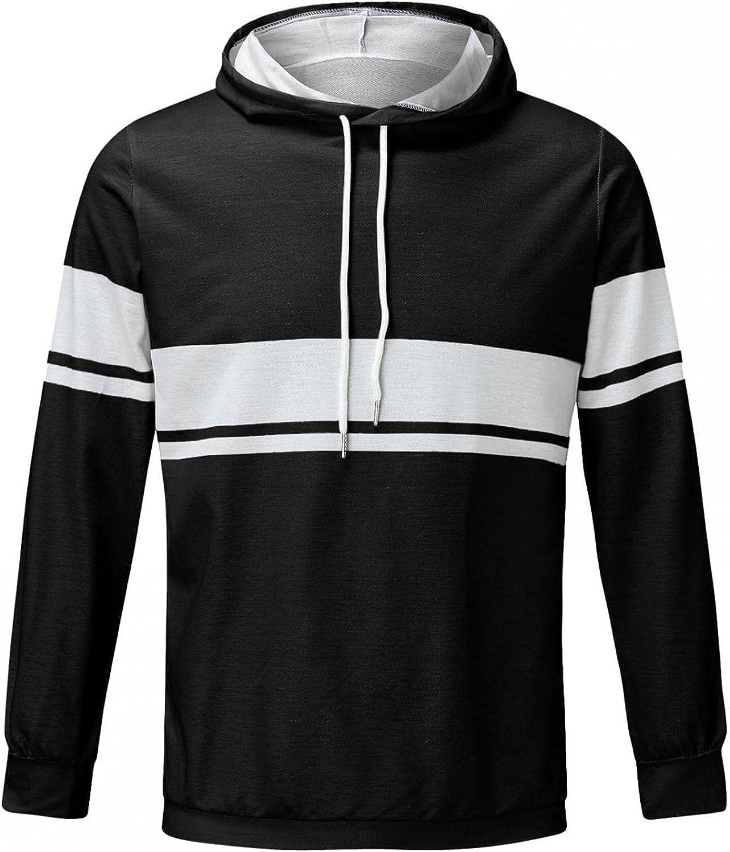 Mens Sweatshirt Hoodies Causal Crewneck Striped Print Fashion Novelty Athletic Pullover Sport Thin Long Sleeve Shirts