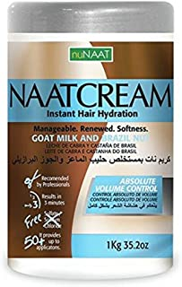 Nunaat Naat Hair Cream, Goat Milk and Brazil Nut, 35.2 Ounce