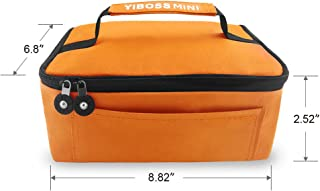 Lunch Box Lunch Bag for Men Women Adults with Divided - Thermal Lunchbox Cooler for Kids Teens Boys Decker Tote Sit For Small Microwave Personal Portable Mini (Orange)