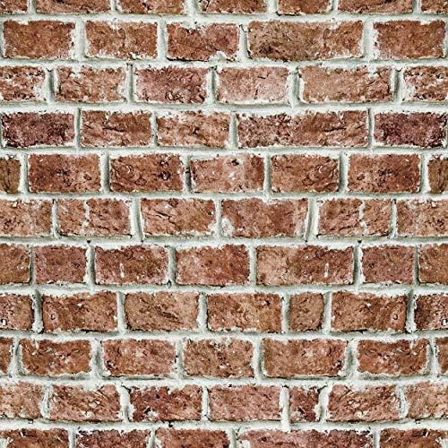 decomonkey Fototapete selbstklebend Tapetenrolle 10 m Tapete Vliestapete Deko Panel Modern Design Wanddeko Wandtapete | Steinwand Stein Ziegel Mauer