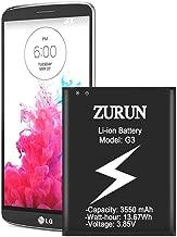LG G3 Battery, ZURUN 3500mAh Replacement Li-ion Battery for LG G3 BL-53YH D852 D855 D852 At&T D850 T-Mobile D851 Verizon VS985 Spring LS990 G3 Spare Battery [2 Year Warranty]