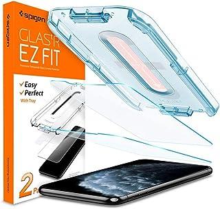 واقي شاشة من الزجاج المقسى سبيجين جلاس تي ار، تصميم خاص بجهاز ايفون 11 برو / ايفون اكس اس / ايفون اكس 5.8 انش 0 – 2 حزمة