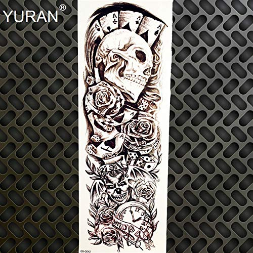 3D Augenglocke Voller Arm Temporäre Tätowierung Aufkleber Körperkunst Malerei Handschellen Tattoo Armmanschette Männer Jungen Große Beine Tattoo Frauen [GQSQ042]