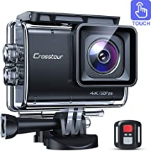 Crosstour CT9700 Native 4K50fps Touch Screen Action Camera 20MP Underwater Camcorder (LDC, EIS, 40M Waterproof, WiFi, Remote Control, Mounting Accessories Kit)