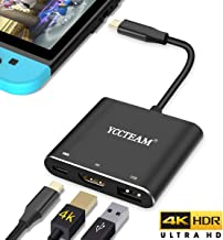 HDMI Adapter for Switch, 4K 1080P Type-C HDMI Converter Dock Replacement for Nintendo Switch Compatible with MacBook, Samsung Galaxy S8/S8+/S9/S9+ (Black)