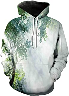 baihemiya Unisex Hoodie 3D Print 70s Party Peace Tie Sherpa Lined Fleece Sweatshirt Size XS