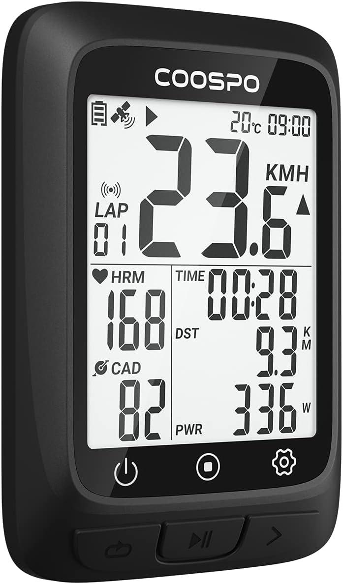 CooSpo Ciclocomputador GPS Computadora Bicicleta Inalámbrica Ordenador de Ciclismo por Impermeable Bicicleta de Carretera MTB Bicicleta