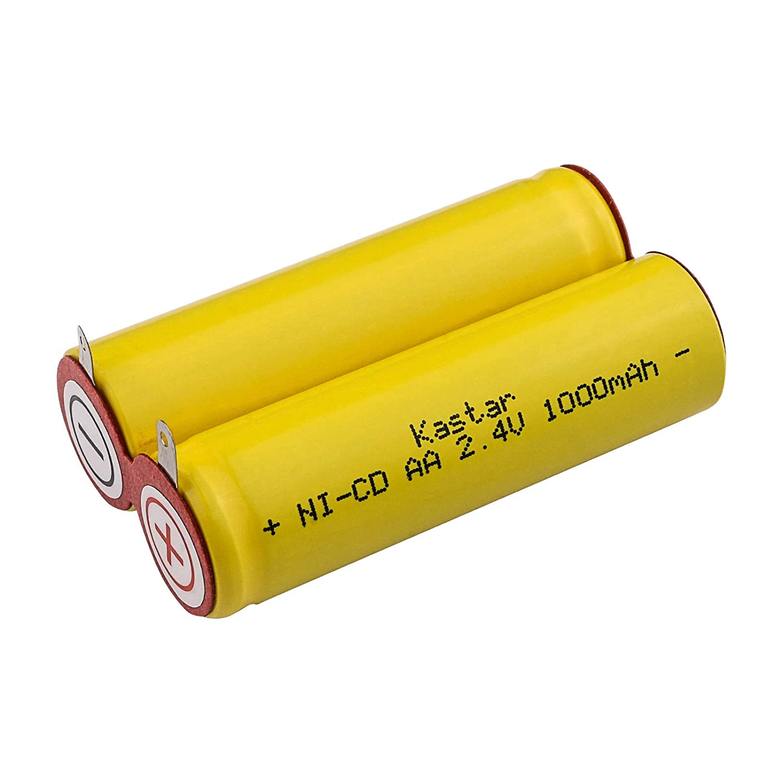 Kastar Ni-CD 2.4V 1000mAh Rare Shaver Replacement Battery Pack New York Mall for Mo