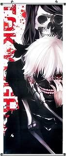 CoolChange Tokyo Ghoul Kakemono/Poster made of fabric,100x40cm, design: Ken Kaneki and Liz Kamishiro