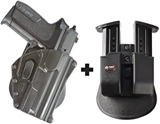 Fobus SG-09 TR Paddle Conceal Concealed Carry Holster Tisas Zigana T, F, FC, K, KC, Zigana Sport + 6909 ND Double Magazine Pouch