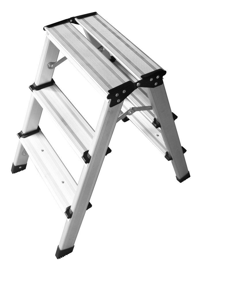 Escalera profesional de aluminio de 6 a 14 peldaños, escalera plegable: Amazon.es: Bricolaje y herramientas