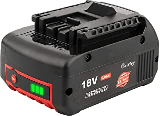 Sponsored Ad – Power Elektro 18v 5Ah Li-ion CoolPack Battery Replace for Bosch BAT609 BAT609G BAT618 BAT618G BAT619 BAT619...
