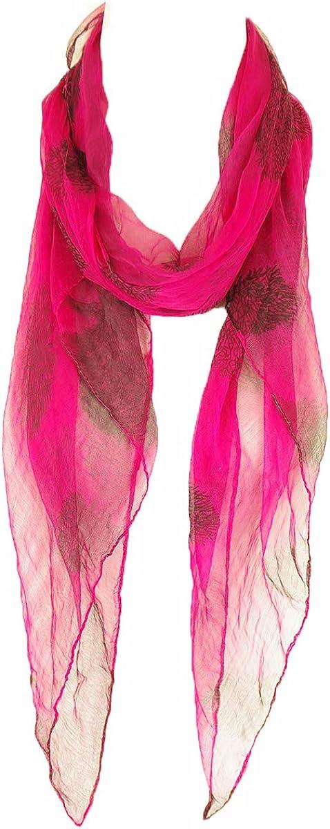 Silk Watercolor Scarf 100% Silk scarf, summer scarf