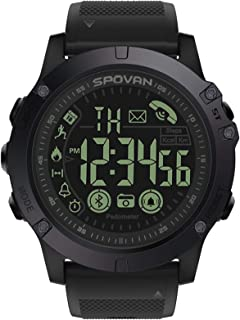 Mens Digital Sports Watch Waterproof Outdoor Military Pedometer Calorie Counter Multifunction Bluetooth Smart Watch
