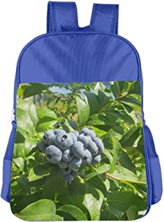 Blueberry Patch School Backpack Children Shoulder Daypack Kid Lunch Tote Bags RoyalBlue