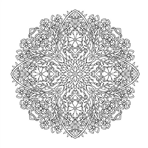 『flower mandalas 心を整える、花々のマンダラぬりえ』の12枚目の画像