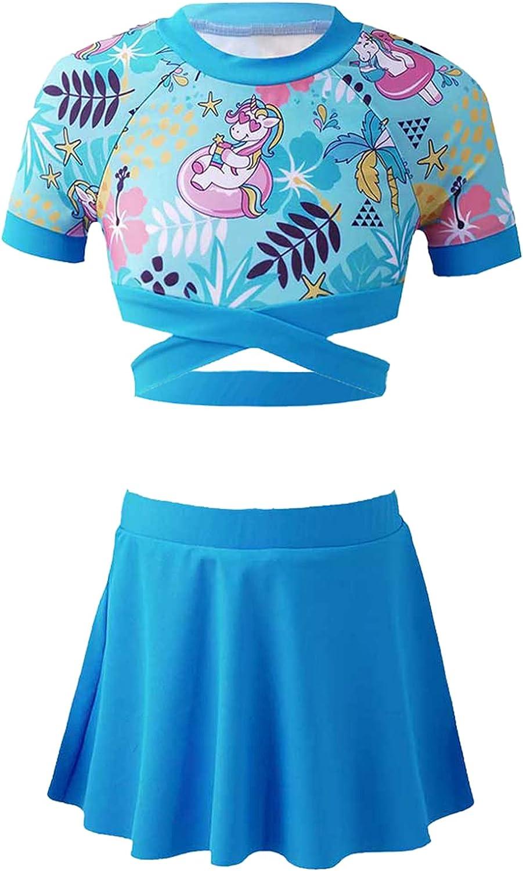 Kaerm Kids Girls 3Pcs Skirt Tankini Cr Bathing Suit Direct wholesale store Sleeve Short