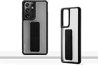 جراب WTech عالي الجودة لليد ومسند متعدد الاستخدامات لهاتف Samsung Galaxy S21 Ultra 5G، جراب حامل مغناطيسي للسيارة بمسند أسود