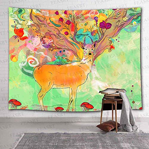 Tapisserie Sika Hirsch Tapisserie Vogel Hippie Wandbehang Bohemian Little Bird Home Decoration Tapestry