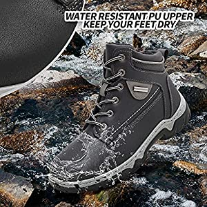 Adokoo Women's Hiking Boots Backpacking Trekking Boots Waterproof Lightweight Ankle Booties(Black,US9)