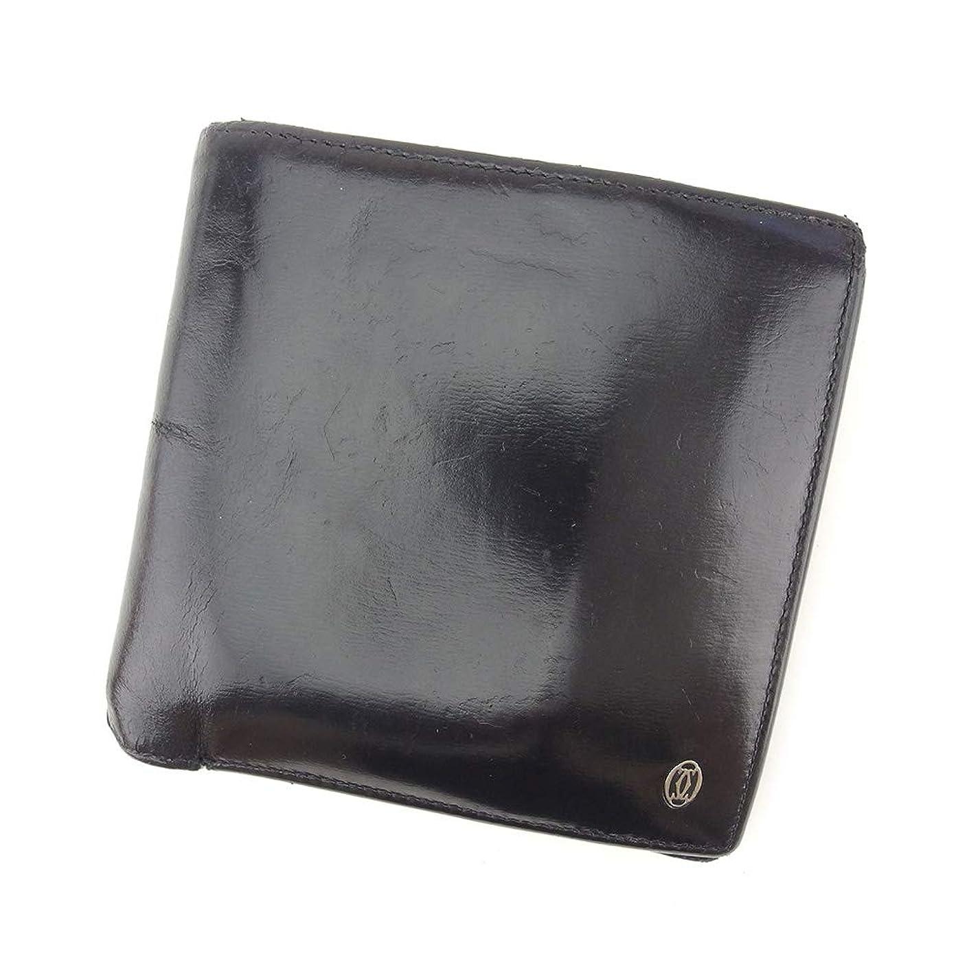 ピューオークランド抑圧者(カルティエ) Cartier 二つ折り 財布 レディース メンズ パシャ 中古 T9031