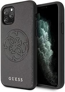 Guess Saffiano Embossed 4G Circle Logo Series Case for iPhone 11 Pro Black