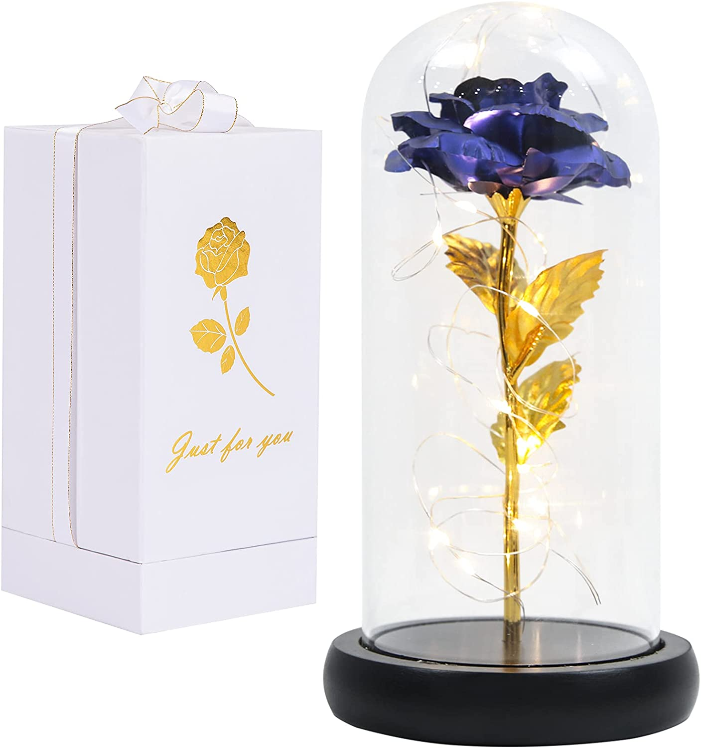 100% quality warranty! Galaxy Rose Flower Max 46% OFF Gift Light String Enchanted Led