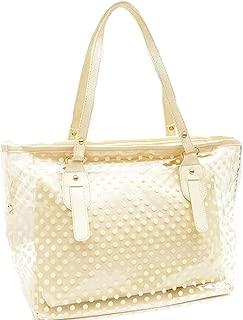 Manka Vesa Women's 2 in 1 Dots Clear Handbag Purse Tote Summer Beach Shoulder Sling Bag