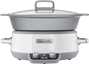 Crock Pot CSC027X Mijoteuse Sauteuse Électrique Programmable avec Revêtement Antiadhésif Duraceramic et Minuterie numériqu...
