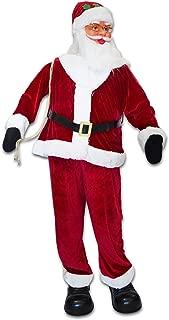 Strong Camel Christmas Life Size Santa Animated Sining and Dancing Santa Claus Xmas Decoration 6FT