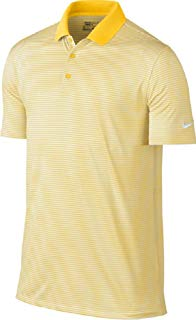 Nike Dry Victory Polo a Rayas para Hombre, Amarillo/White, X-Large