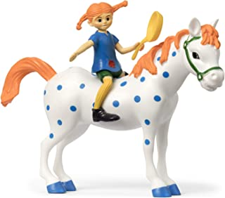 Pippi 44-3795-00 Longstocking PIPPI & Little Buddy Figure, Muti