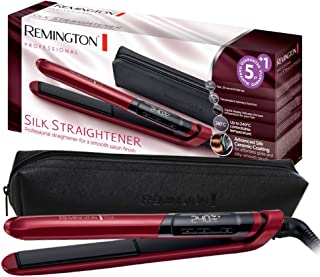 Remington Silk Hair Straightener - RES 9600, Red/Black
