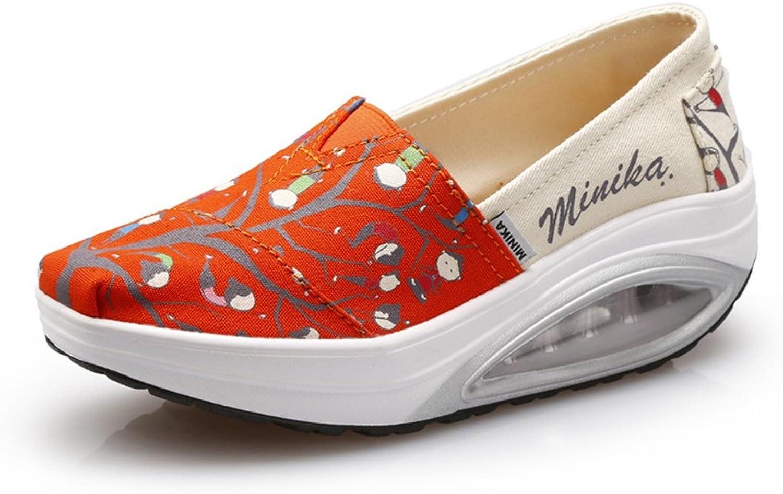 AGoGo Women's Vintage Print Casual Sneaker Lightweight Walking shoes