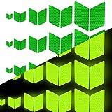 Tuqiang® Forma di diamante Nastro Riflettente Autoadesiva per abbigliamento Zaino e passerella Nastro ad alta visibilità Adesivo riflettente per la sicurezza esterna 25 Pezzi Verde