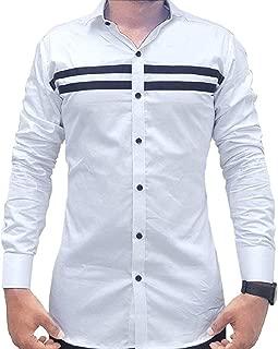 Parth Fashion Hub Men's Cotton Casual Shirt for Men Full Sleeves