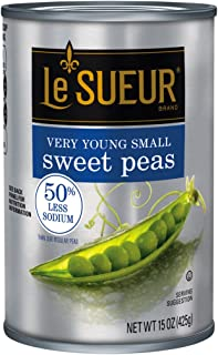Le Sueur Very Young Small Sweet Peas 50% Less Sodium, 15 oz