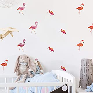 Chiam-Mart 1 Pc Flamingo Wall Stickers DIY Living Room Bedroom Kids Nursery Poster Lotus Flower Tree World Map Decals Boys Home Laptop Decal First-Rate Fashionable Vinyl Mural Art Decor