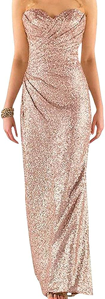 Ever Girl Women's Sequins Long Wedding Party Gown