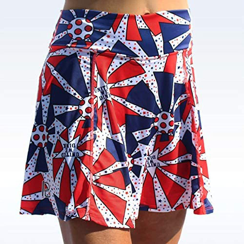 Ultra-Cheap Deals Pickleball Bella United Selling We Dink A-Line White Red an Skorts in