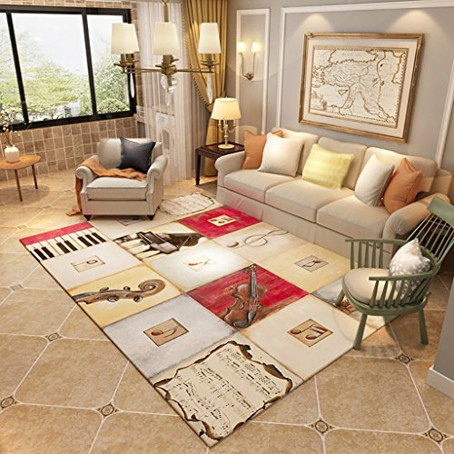 Creative Light Tapis Modernes Nordiques Canapé Table Basse Salon Carpet Chambre Rectangle de Chevet Home Mats (Taille : 120cm*160cm)