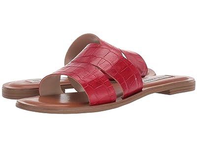 Steve Madden Alexandra Flat Sandals (Red Croco) Women