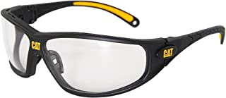 Caterpillar Tread Safety Glasses, Black and Yellow, Clear